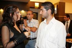 With Lebanese Fashion Designer Mireille Dagher