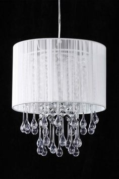 Crystal Teardrops For Chandelier: All that Shimmers Lighting White Laced Teardrop Crystal Chandelier,Lighting