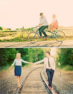 one day i WILL have a couples photoshoot on a train and old-fashion bike..