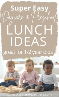 A list of easy self-feeding toddler daycare lunch ideas great for 1-2 year olds. Try packing these easy lunch ideas for your toddler (no heating required). #toddlerlunch #toddlerdaycare #daycarelunch #toddlermealideas Toddler Daycare, Toddler Meals, Kid Meals, Toddler Food, Freezable Lunch Box, Baby Feeding Schedule, Lunch Ideas, Meal Ideas, Food Ideas