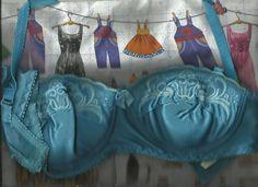 BRA FASHION-ED___LINK.:(25) La Perla sheer lace demi bra | Sutiâs lindos , peça…