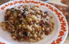 Arroz y trigo cremosos con tropezones