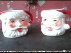 Enesco Santa Claus mug set by happydayantiques on Etsy, $16.00