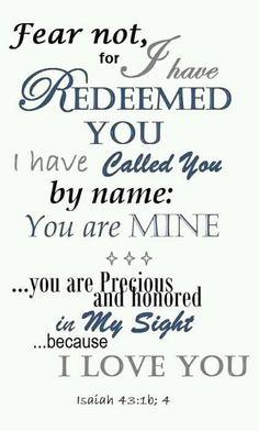 Isaiah 43:1b, 4