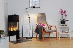 IKEA SPOTTED // ANTIFONI floor/reading lamp in black, BEKVÄM step stool in beech