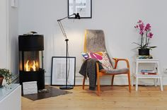 IKEA SPOTTED // ANTIFONI floor/reading lamp in black, BEKVÄM step stool in beech