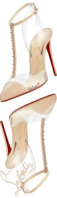 ❈Téa Tosh❈ Louboutin, Nosy Spikes Illusion Red Sole Pump