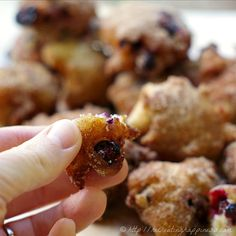 """""""Pop-able"""" Gluten Free Blueberry Doughnut Fritters 