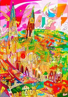 #0326-1 #シャルトルの大聖堂 #フランス共和国#Chartres Cathedra_ #France_ FR_ West, South Europe_ Cultural_ Department of #Eure-et-Loire, Centre Region_ (i)(ii)(iv)_ N48 26 51 E1 29 141979_ Minor modification inscribed year: 2009_ 1.06ha_ 62ha_Ref:81bis