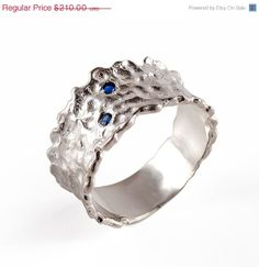 Holiday SALE  MALKA Sterling Silver Ring Unique by AroshaTaglia, $189.00
