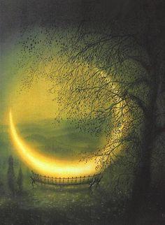 Night // painting by Friedrich Hechelmann