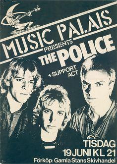 The Police concer posters | the police 1979 june 19 live concert at stockholm sweden poster