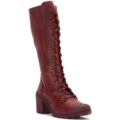 Palladium Women's Parade Heel Leather Boots (€155) ❤ liked on Polyvore featuring shoes, boots, mid-calf boots, tall boots, real leather boots, genuine leather boots and palladium boots