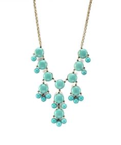 Loving this Turquoise Bubble Bib Necklace on #zulily! #zulilyfinds