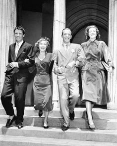 """Peter Lawford, Jane Powell, Fred Astaire, and Sarah Churchill promo for """"Royal Wedding"""" (1951)"""