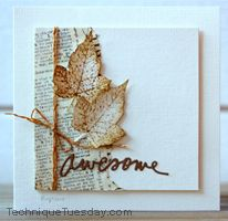 Rapport från ett skrivbord: CASology w is one of the most brilliant cards I've seen recently. Leaf Cards, Beautiful Handmade Cards, Thanksgiving Cards, Fall Cards, Masculine Cards, Halloween Cards, Card Tags, Creative Cards, Greeting Cards Handmade