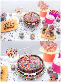 .Ideia fantástica para dar acabamento a um bolo de aniversário! <3