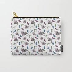 Tulips and Butterflies Carry-All Pouch Tech Accessories, Tulips, Butterflies, Zip Around Wallet, Coin Purse, Pouch, Design, Fashion, Moda