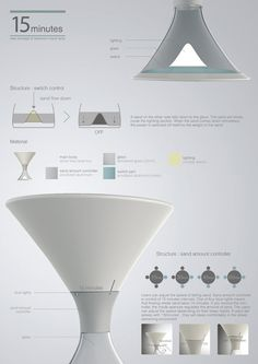 Once you are dead asleep, there is little use of the night lamp that keeps burning uselessly. The 15 Minutes Lamp is an innovative fusion of Web Design, Lamp Design, Lighting Design, Layout Design, Yanko Design, Mise En Page Portfolio, Portfolio Layout, Presentation Board Design, Industrial Design Portfolio