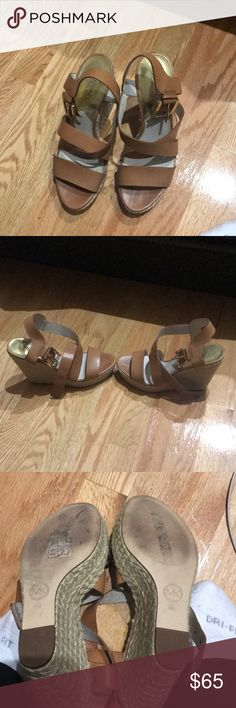 Michael Kors Tan wedges Stunning almost new worn to 1 outing Tan wedges Michael Kors Shoes Wedges