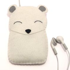 Polar bear case for phones or IPODs