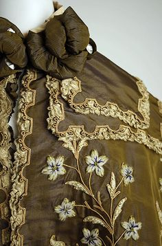 Opera cape (detail 4) Beer (French) Designer: Gustave Beer (French) Date: ca. 1896 Culture: French Medium: silk, wool Dimensions: Length at CB: 19 in. (48.3 cm) Credit Line: Gift of Everett S. Lee, 1980 Accession Number: 1980.588.1