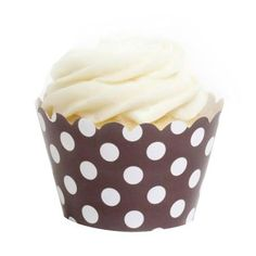 I pinned this 12 Piece Polka Dot Cupcake Wrapper in Brown from the Sweet Treats event at Joss and Main!