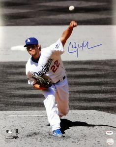 Clayton Kershaw Autographed Los Angeles Dodgers 16x20 Photo PSA/DNA ITP Stock #94431