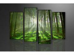 Aanbieding: 'Het Groene Bos XXL' Canvas Schilderij