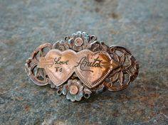 Vintage Sweetheart Brooch Love to Anita by tippleandsnack on Etsy, $22.50