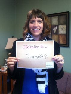 Hospice is empathy. #hospicemonth #empathy #hospice