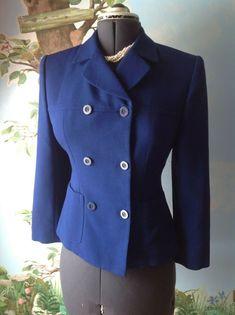 146809f8844 Jones New York Petite Women s Blue Long Sleeve Wool Blazer Suit Jacket Size  6P  JonesNewYork