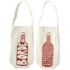 for the wine lover: Bordeaux Wine Tote