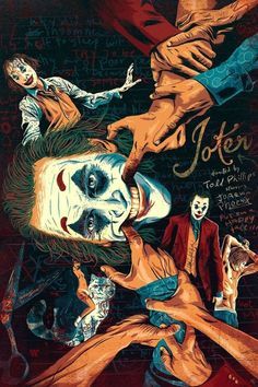 BROTHERTEDD.COM Graphic Design Illustration, Illustration Art, Joker Film, Joker Drawings, Grateful Dead Music, Movie Poster Art, Gig Poster, Alternative Movie Posters, Joker And Harley