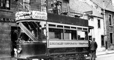 Old travel Blog photograph of the Number 6 Tram in Kirkcaldy, Fife , Scotland . Kirkcaldy Corporation Tramways operated a tramway service i...