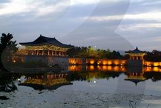 Anapji Pond - looks like a good photo op at night, but may be more romantic than family - Gyeongju