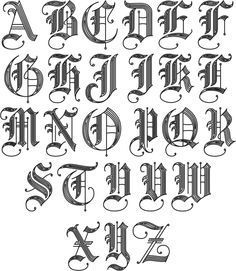 Image Result For Old English Letters  Hand Lettering And