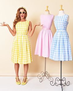 All three dresses are perfectly lovely
