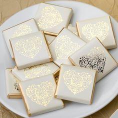 Chocolaatjes vintage romance ivoor-goud