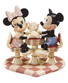 Lenox Collectible Disney Figurines, Mickey Mouse and Minnie Collection - Collectible Figurines