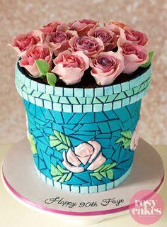 Edible Art, Flower pot cake.