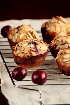 Almond and Cherry Muffins   #muffin #tuzubiberi