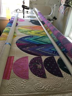 Seriously peeps, I have the best life. This month I got to quilt for Tula Pink. Yes, THAT Tula Pink. It was some pretty exciting times. Here is the finished quilt! First things first though, there …