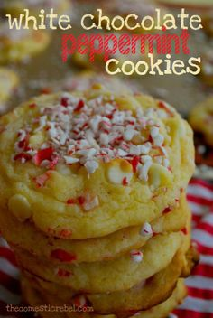 White Chocolate PeppermintCookies (1) From: The Domestic Rebel, please visit