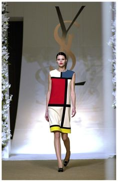 YSL Mondrian dress. So want to make this but a different profile!