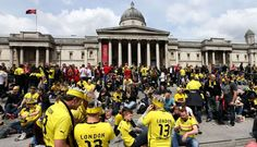 FOTOS: alemanes llenan de color las calles de Londres antes de la final de la Champions