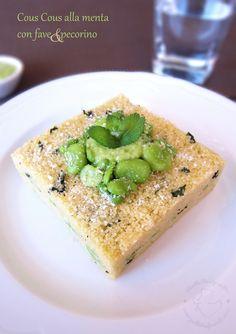 Couscous with mint, broad bean and pecorino - Cous cous alla menta con fave e pecorino