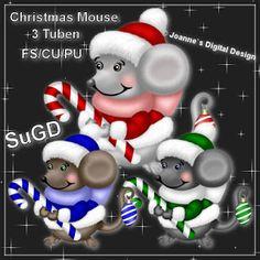 ScrapGrafikShop: CU/PU Christmas Mouse Tuben