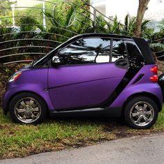 Matte purple smart taking on the world.