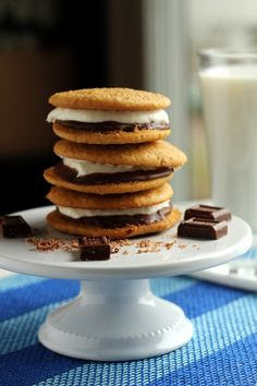 Smores Whoopie Pies | carmelmoments.com